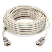 DB9 Serial Null-Modem Cable, DB9 Female/DB9 Female, 50-ft. (15.2-m)