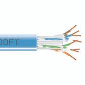 GigaTrue  550 CAT6, 550-MHz Solid Bulk Cable, Plenum (CMP), 1000-ft. (304.8-m), Blue
