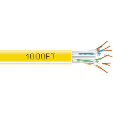 GigaTrue  550 CAT6, 550-MHz Solid Bulk Cable, 4-Pair, PVC, Pull Box, 1000-ft. (304.8-m), Yellow