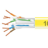 GigaTrue  550 CAT6, 550-MHz Solid Bulk Cable, Plenum (CMP), 1000-ft. (304.8-m), Yellow
