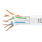 GigaTrue  550 CAT6, 550-MHz Solid Bulk Cable, Plenum (CMP), 1000-ft. (304.8-m), White
