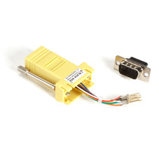 DB9 Colored Modular Adapter (Unassembled), Male to RJ-45, 8-Wire, Yellow