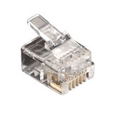RJ-11 Modular Connector, 6-Wire, 50-Pack