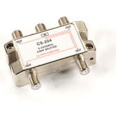 Cable/Satellite TV Signal Splitter, 2-GHz, 1 4