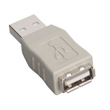 USB Gender Changer, Type A/Type A, Male/Female
