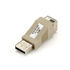 USB Gender Changer, Type A/Type B, Male/Female