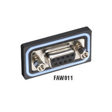 Water-Resistant Connector System, D-Style Panel-Mount Connector