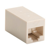 CAT5e Coupler, Straight-Pinned, Unshielded, Beige, 10-Pack
