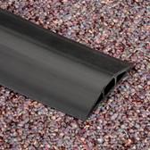 FloorTrak Cable Cover, 10-ft. (3-m), Center Diameter:  0.5in x 0.312in, Black