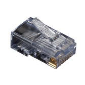 RJ-45 Modular Connector, Round Cable, Stranded, 10-Pack