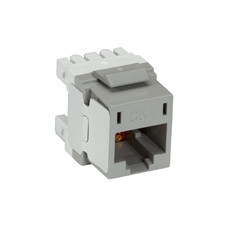 10-Gigabit CAT6A Jack, Gray