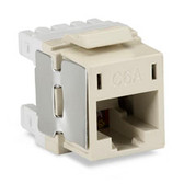 10-Gigabit CAT6A Jack, Off White