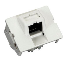 Category 5e Jack Coupler, T568B, White, Single