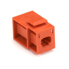 GigaStation Snap Fitting, MT-RJ Flush Adapter (Female/Female), Orange