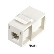 GigaStation MT-RJ Flush Adapter (Female/Female) Snap Fitting