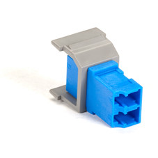 GigaStation Snap Fitting, LC, Non-Flush Mount, Gray