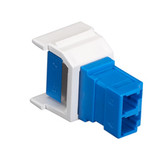 GigaStation Snap Fitting, LC, Non-Flush Mount, White