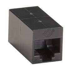 CAT5e Coupler, Straight-Pinned, Unshielded, Black, Single-Pack