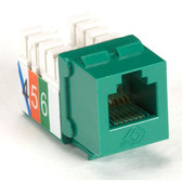 USOC RJ-11 Jack, Green, Single-Pack