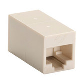 CAT5e Coupler, Cross-Pinned, Unshielded, Beige, 10-Pack