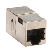 CAT5e Coupler, Cross-Pinned, Shielded, Silver, 10-Pack