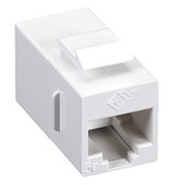 CAT5e Keystone Coupler, Straight-Pinned, Unshielded, White, Single-Pack
