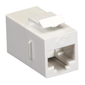 CAT5e Keystone Coupler, Cross-Pinned, Unshielded, White, Single-Pack