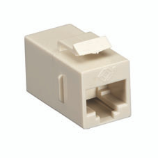 CAT5e Keystone Coupler, Cross-Pinned, Unshielded, Beige, 10-Pack