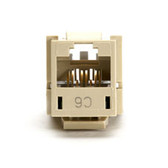 GigaTrue CAT6 Jack, Universal Wiring, Electric Ivory, Single-Pack