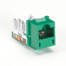 GigaTrue CAT6 Jack, Universal Wiring, Green, Single-Pack