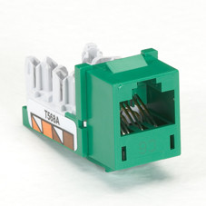 GigaTrue CAT6 Jack, Universal Wiring, Green, 25-Pack