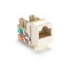 GigaTrue CAT6 Jack with Universal Wiring, Office White, Single-Pack
