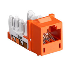 GigaTrue CAT6 Jack, Universal Wiring, Orange, Single-Pack