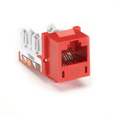 GigaTrue CAT6 Jack, Universal Wiring, Red, Single-Pack