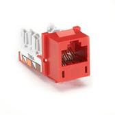 GigaTrue CAT6 Jack, Universal Wiring, Red, 25-Pack