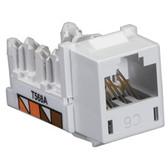 GigaTrue CAT6 Jack, Universal Wiring, White, 25-Pack