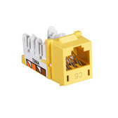 GigaTrue CAT6 Jack, with Universal Wiring, Yellow, 25-Pack
