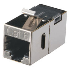 CAT6 Keystone Feed-Through Straight-Pinned Coupler
