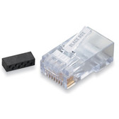CAT6 Modular RJ-45 Connectors, 10-Pack