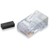 CAT6 Modular RJ-45 Connectors, 50-Pack