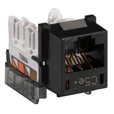 GigaBase  CAT5e Jacks, Universal Wiring, 25-Pack, Black