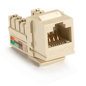 GigaBase Plus CAT5e Jacks, Universal Wiring, 25-Pack, Ivory