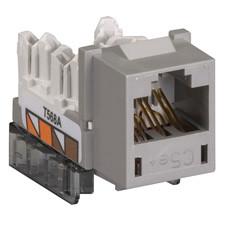 GigaBase  CAT5e Jack, Universal Wiring, Single-Pack, Gray