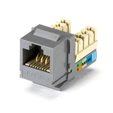 GigaBase Plus CAT5e Jack, Gray