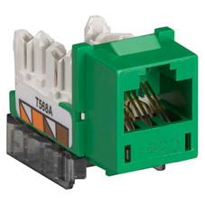 GigaBase  CAT5e Jack, Universal Wiring, Single-Pack, Green