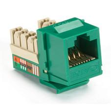 GigaBase Plus CAT5e Jacks, Universal Wiring, 25-Pack, Green