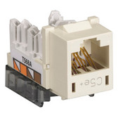 GigaBase  CAT5e Jack, Universal Wiring, Single-Pack, Office White