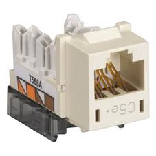 GigaBase  CAT5e Jack, Universal Wiring, Single-Pack, Office White