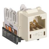GigaBase  CAT5e Jacks, Universal Wiring, 25-Pack, Office White