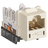 GigaBase Plus CAT5e Jacks, Universal Wiring, 25-Pack, Office White